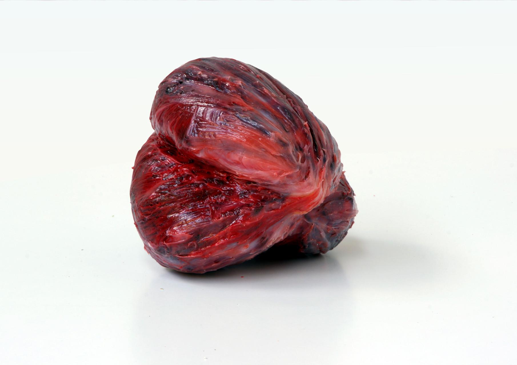 """meat"", Beton/Kunstharz/Pigmente,  15 x 12 x 16, 2008,"