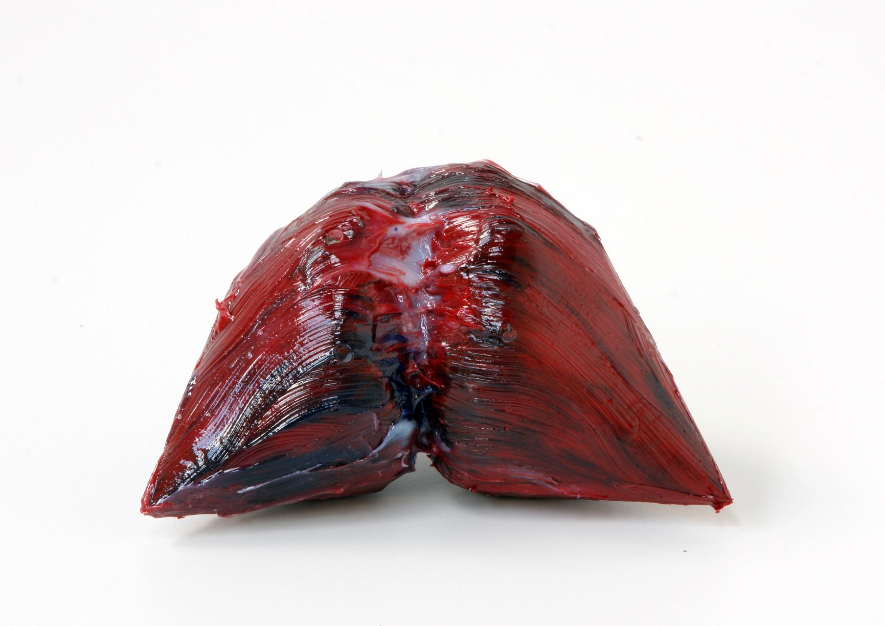 """meat"", Beton/Kunstharz/Pigmente, 16 x 21 x 14, 2008,"