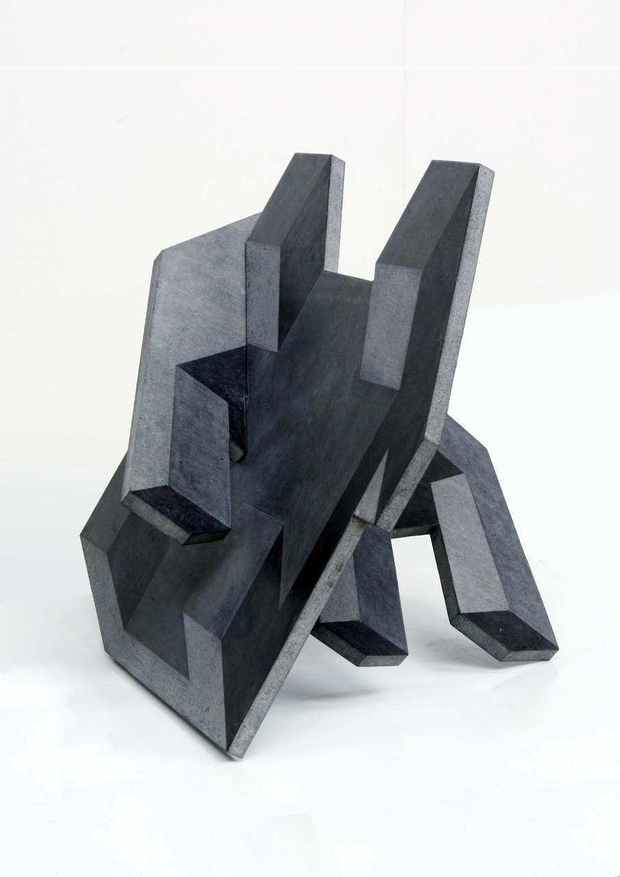 """""""o.T.""""(zweiteilig), Beton / unterschiedlicher Schliff, 80 x 120 x 80, 2010"""