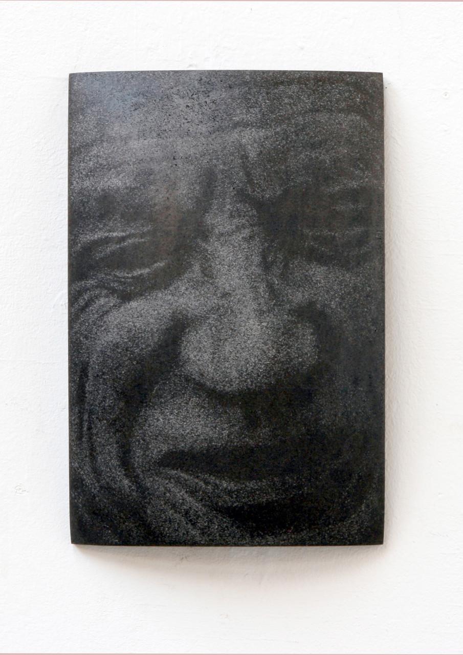 """Picasso"", Beton/Gravur,  36 x 24 x 9, 2010"