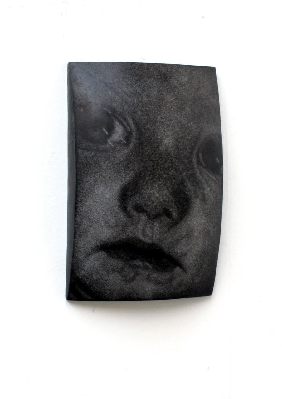 """""""Mia"""", Beton/Gravur, 2007, 36 x 24 x 9, 2007"""