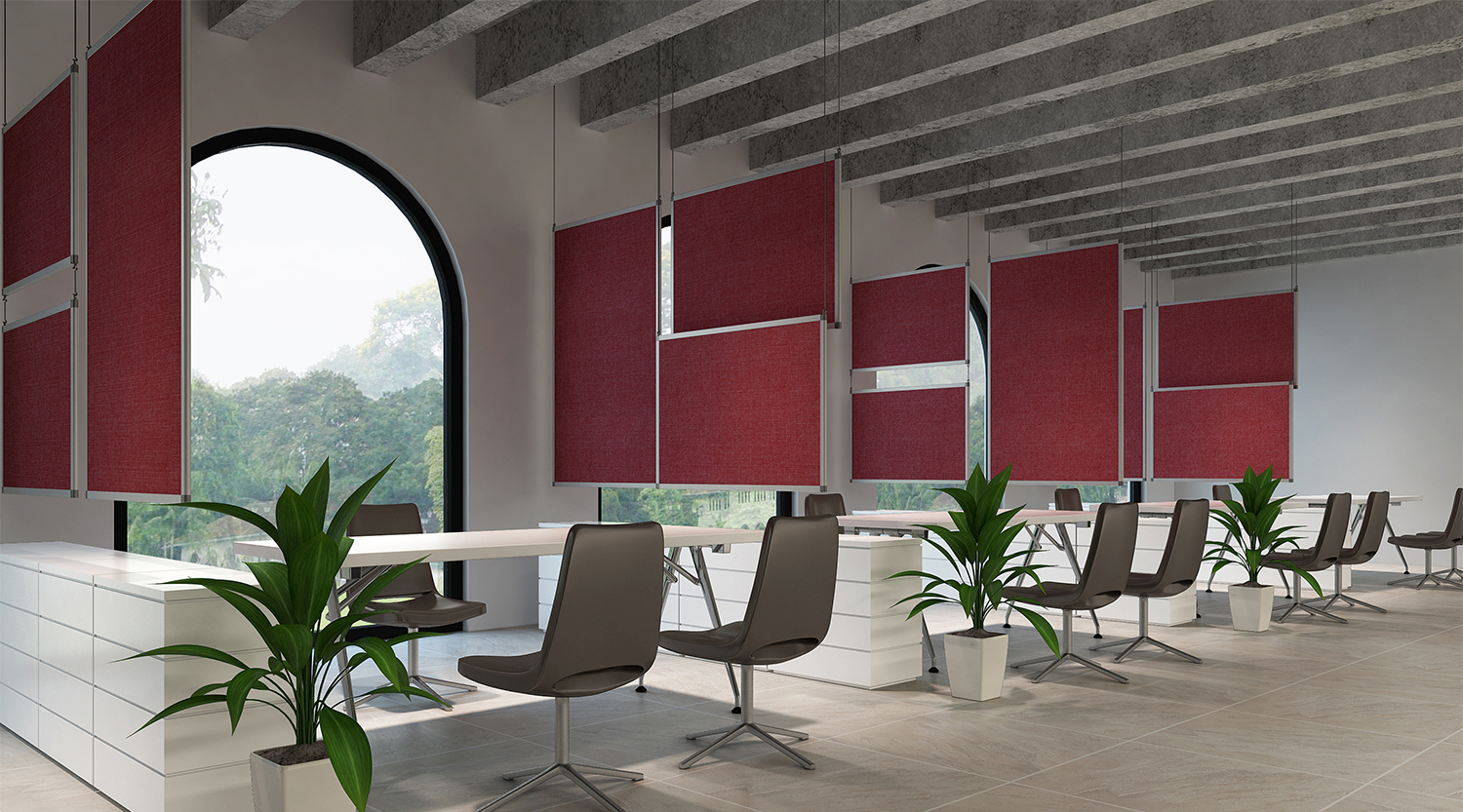 Acoustic hanging panels