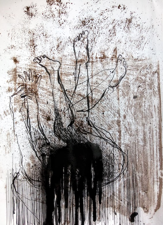 Encres sur papier, 24 x 32 cm, 2020