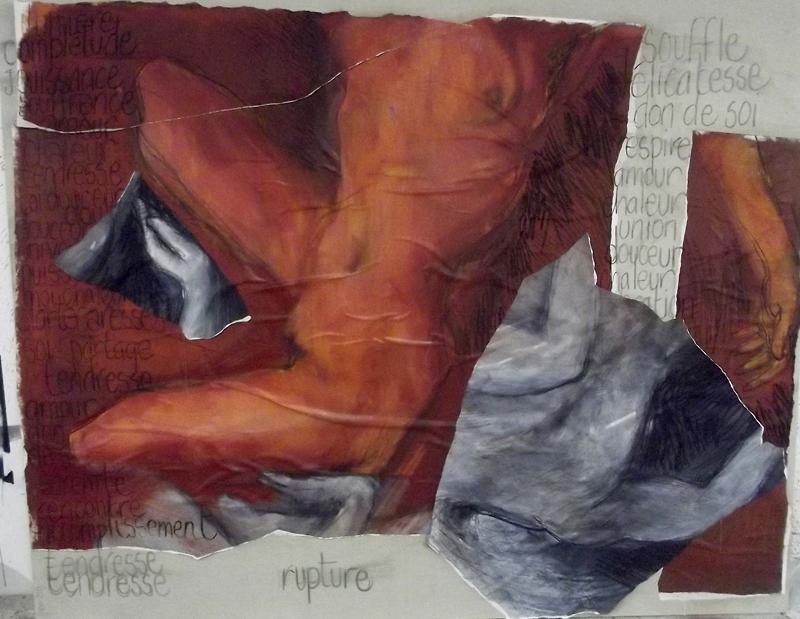 technique mixte sur toile, 2, 65 x 2 m, 2013