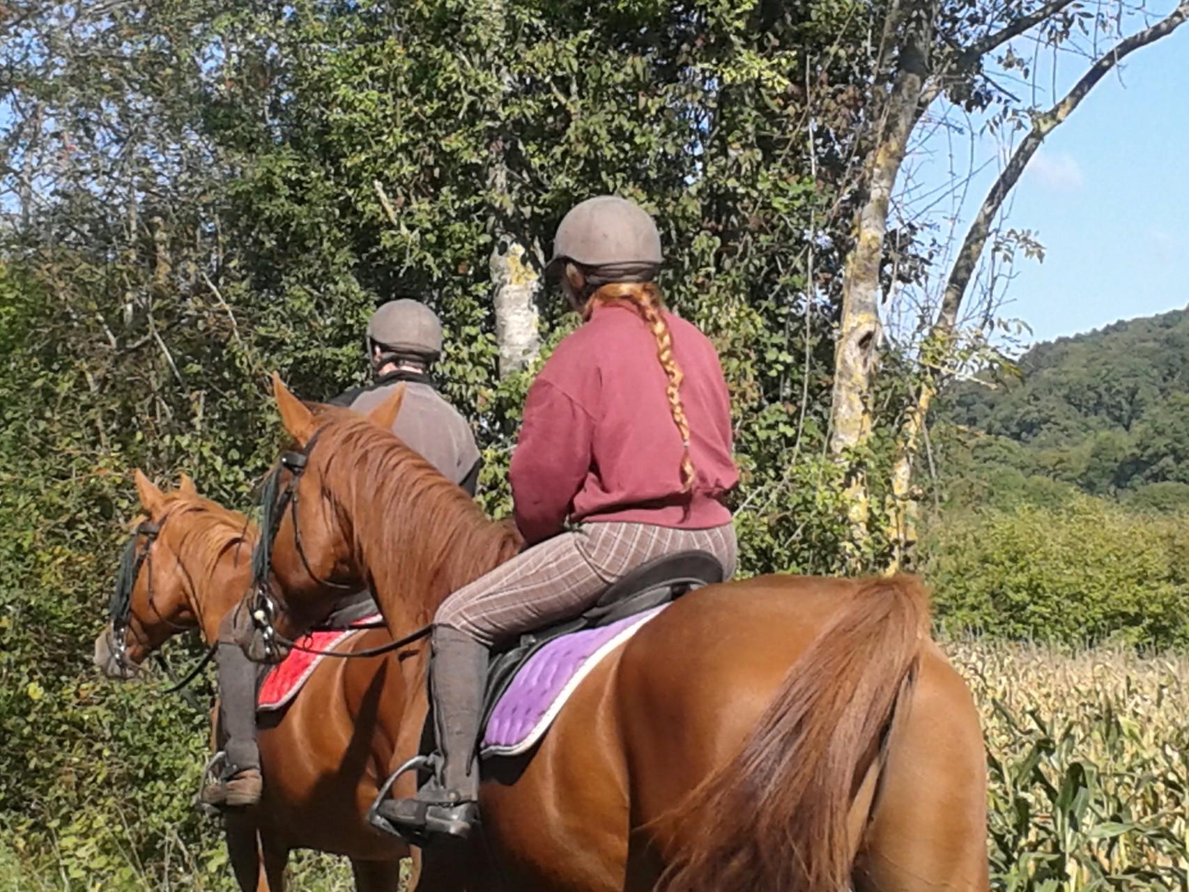 randonner à cheval