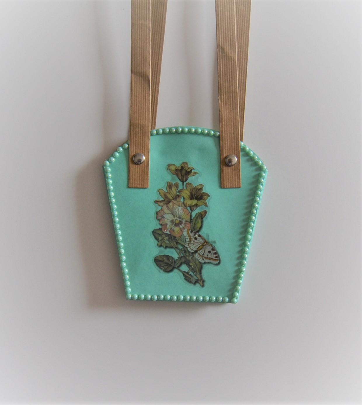 Geschenk-Tasche für Pflanzen klein mint