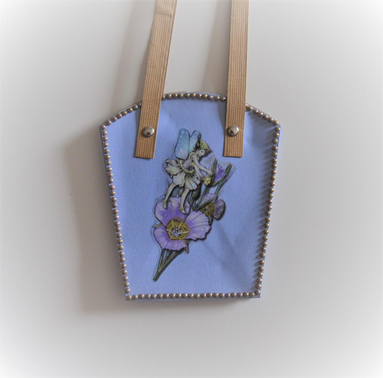 Geschenk-Tasche für Pflanzen mittel violett