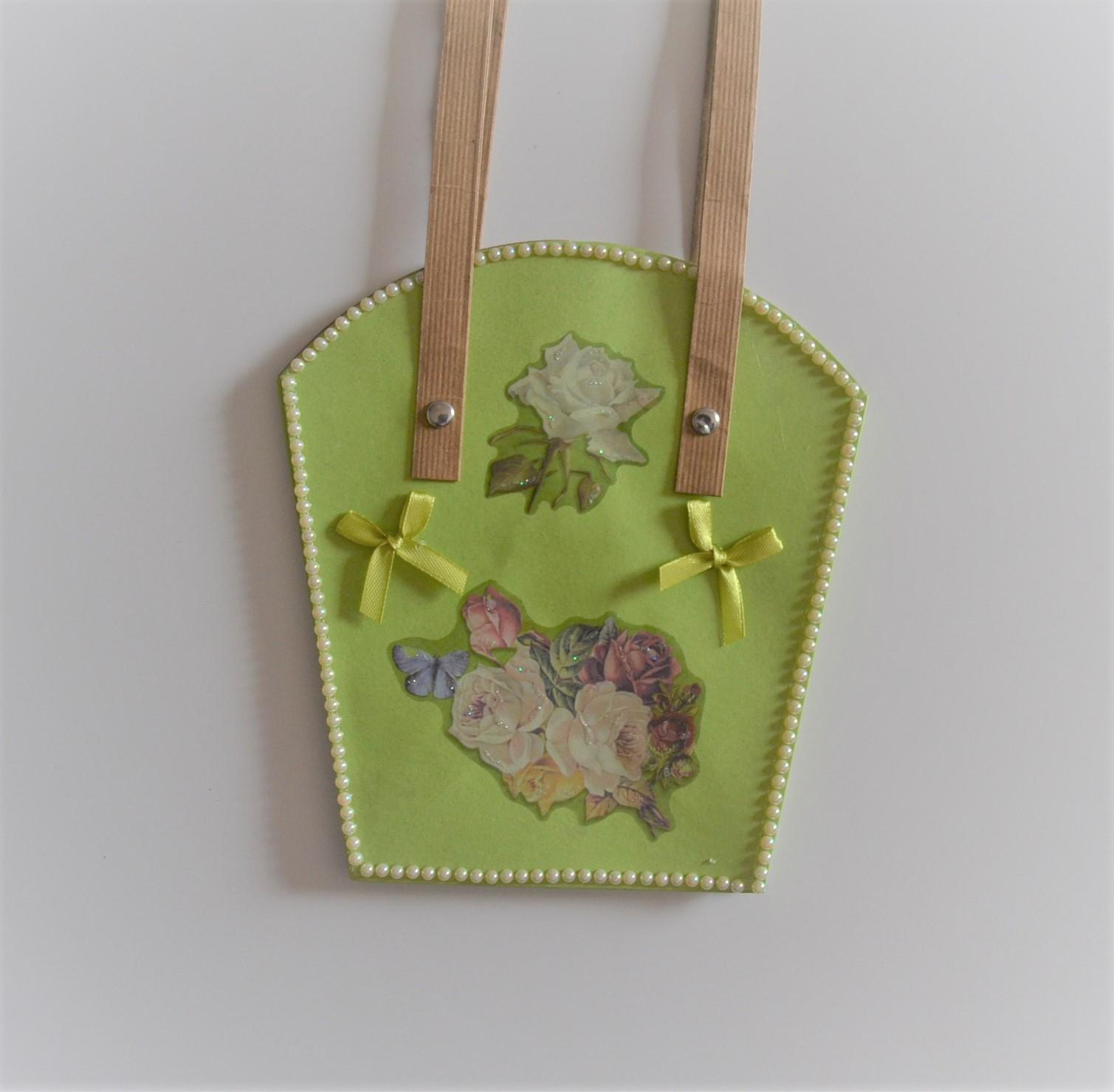 Geschenk-Tasche für Pflanzen groß hellgrün