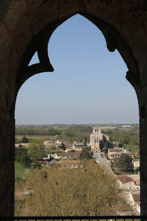 depuis la tour de l'abbaye