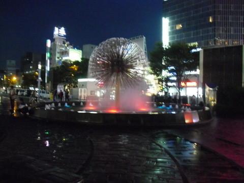 岡山駅前の夜景2