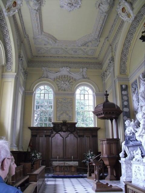 ブレナム宮殿、装飾予定の天井2