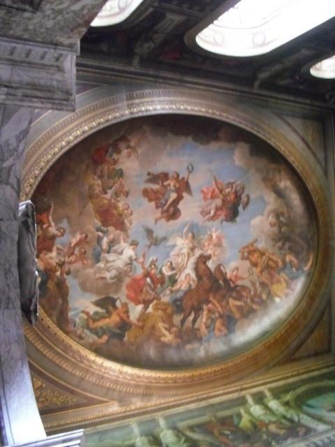 ブレナム宮殿内部4、ある部屋の天井