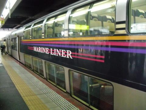 岡山駅から四国の高松に行く電車