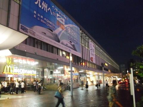 岡山駅前の夜景1
