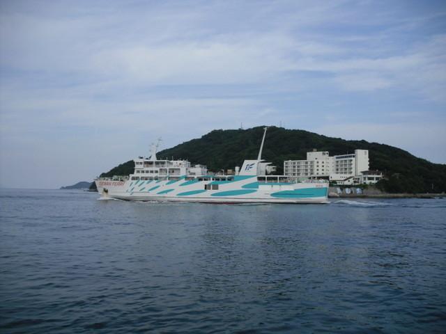 鳥羽・遊覧船からの景色・伊良湖岬に行くフェリー