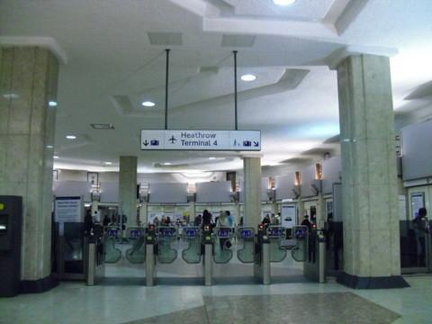 ヒースロー空港ターミナル4の地下鉄入り口