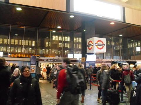 駅の内部です。