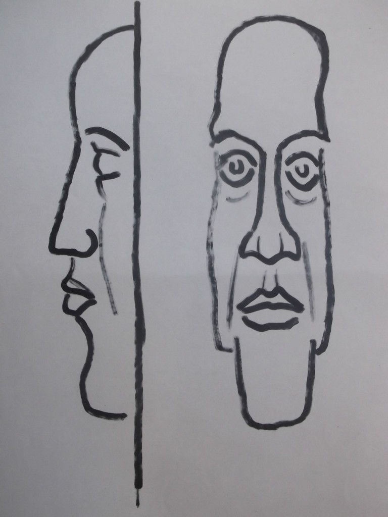 Очертание маски лица