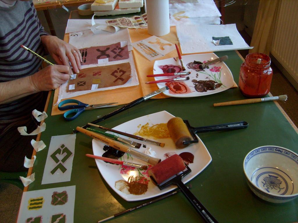 Impressions réalisées avec les pigments naturels