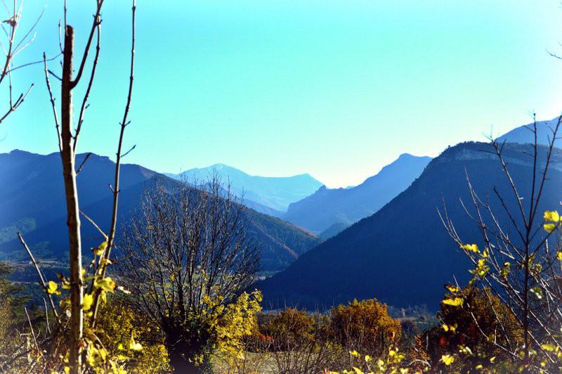 Lumières et belles couleurs de l'automne à Vercheny