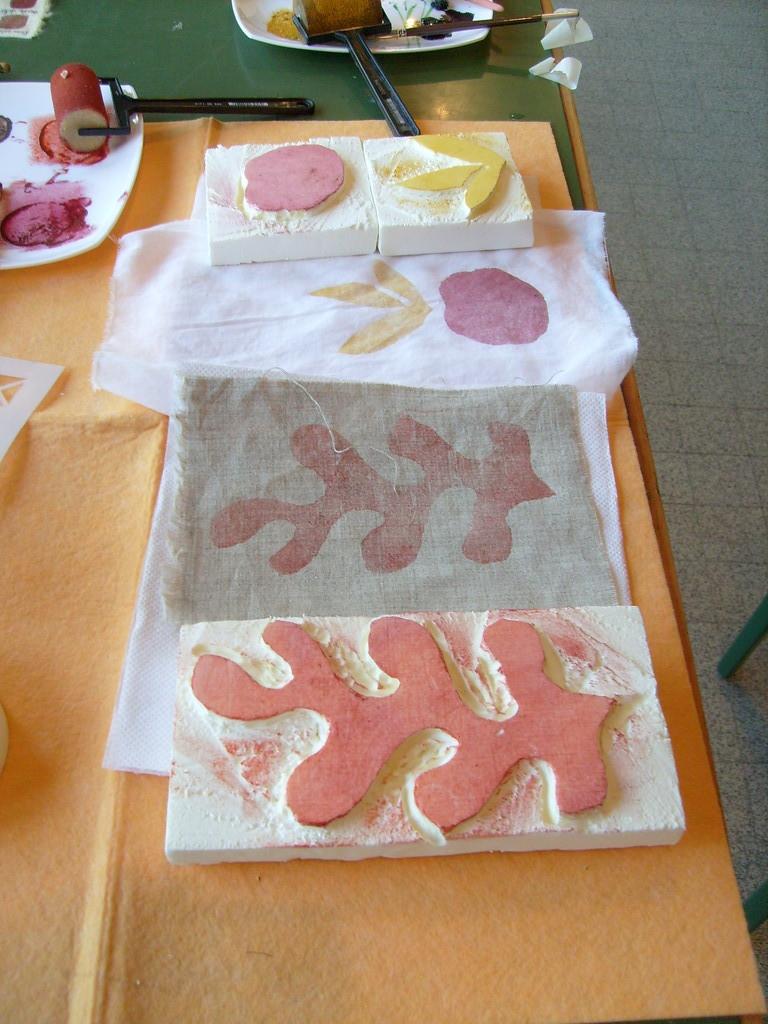 Création de tampons pour l'impression des couleurs végétales
