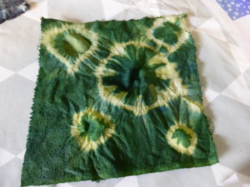 Gaude + Indigo = un très beau vert