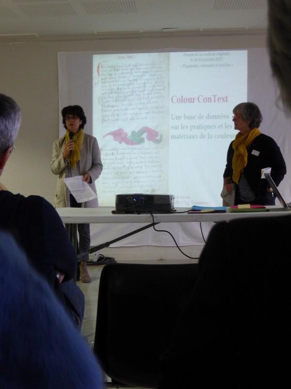 Présentation des Conférences par la Présidente de l'association Couleur Garance