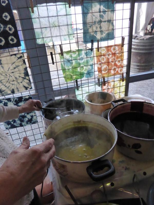 Les bains de gaude, de garance et d'indigo