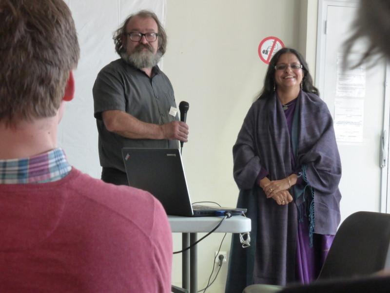 Echange entre les participants et Rashmi  Bharti sur ce programme exemplaire réalisé en Himalaya