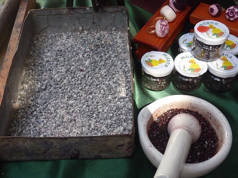 3kgs de cochenilles sont nécessaires pour obtenir 1kg de colorant