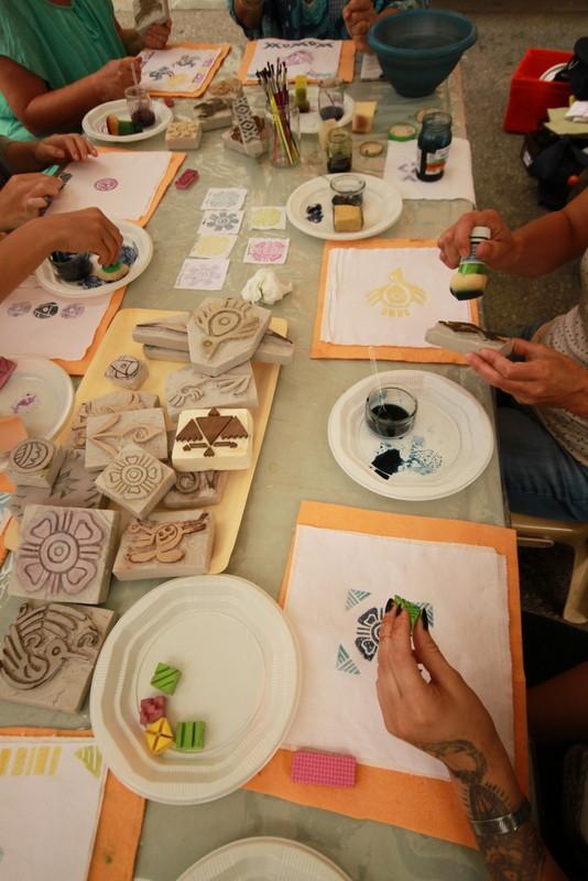 Des participants très inspirés par toutes ces belles couleurs