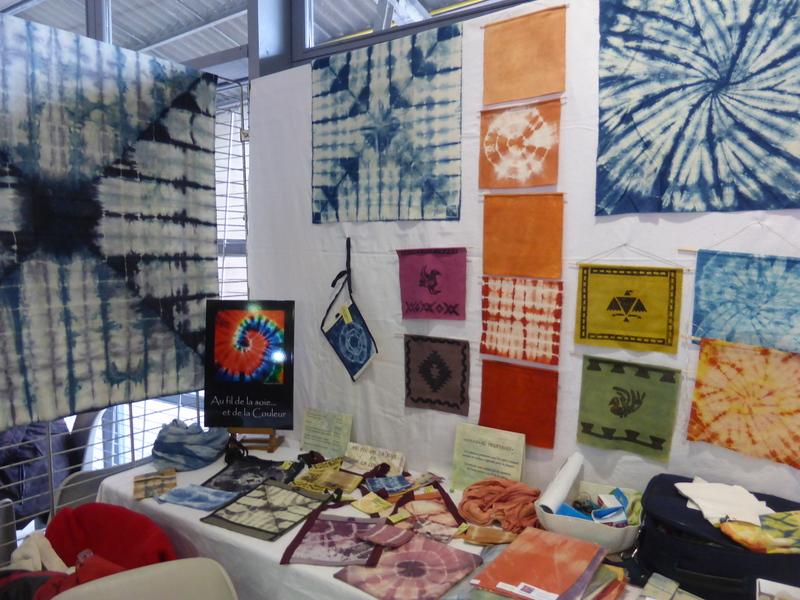 Exposition de réalisations des membres de l'association Au fil de la soie
