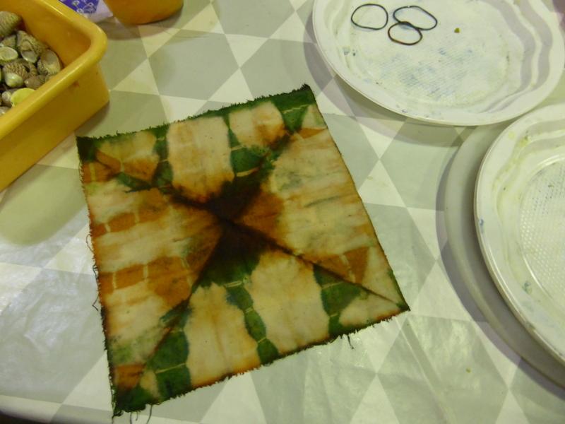Pliages successifs inspirés de l'origami...