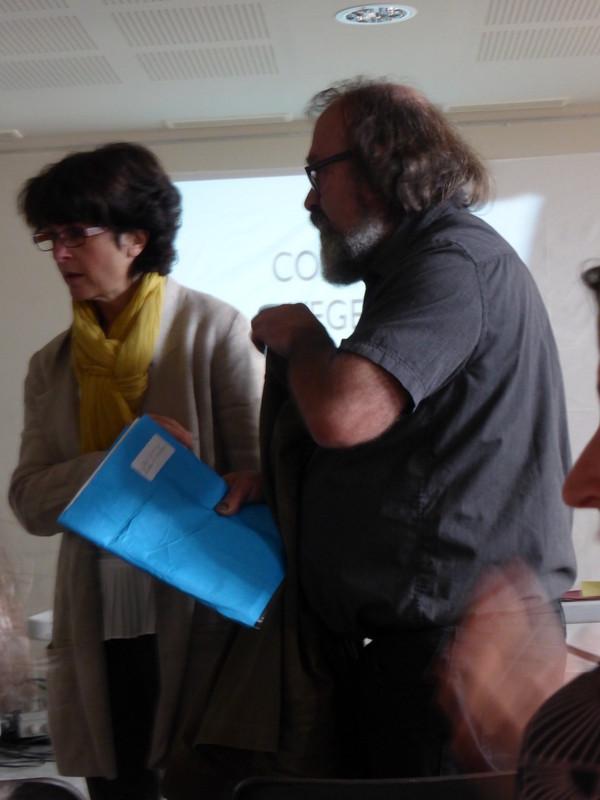 Retour aux conférences, arrivée d' Anne Lascoux et Michel Garcia