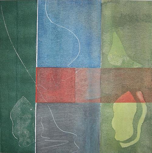 Waterland II, Acryl auf Papier 50cmx50cm