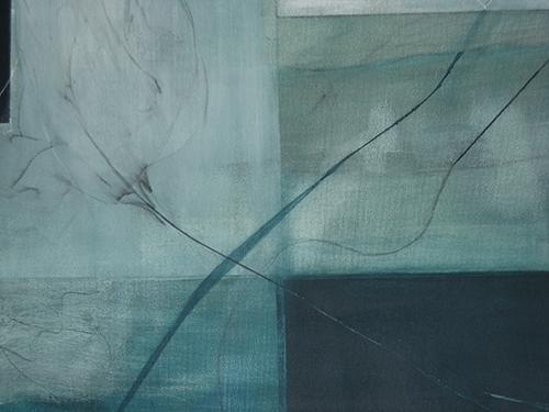 Blaue Blüte, Acryl auf Leinwand 50cmx50cm