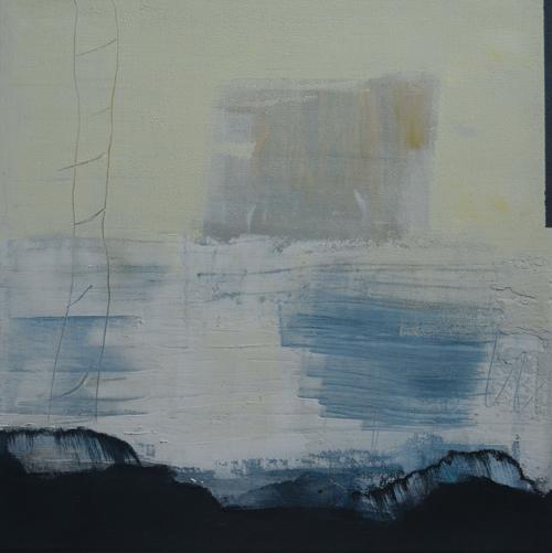 Klang der Stille , Acryl Mischtechnik auf Leinwand 40x40cm