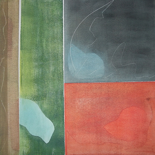 Waterland I, Acryl auf Papier 50cmx50cm