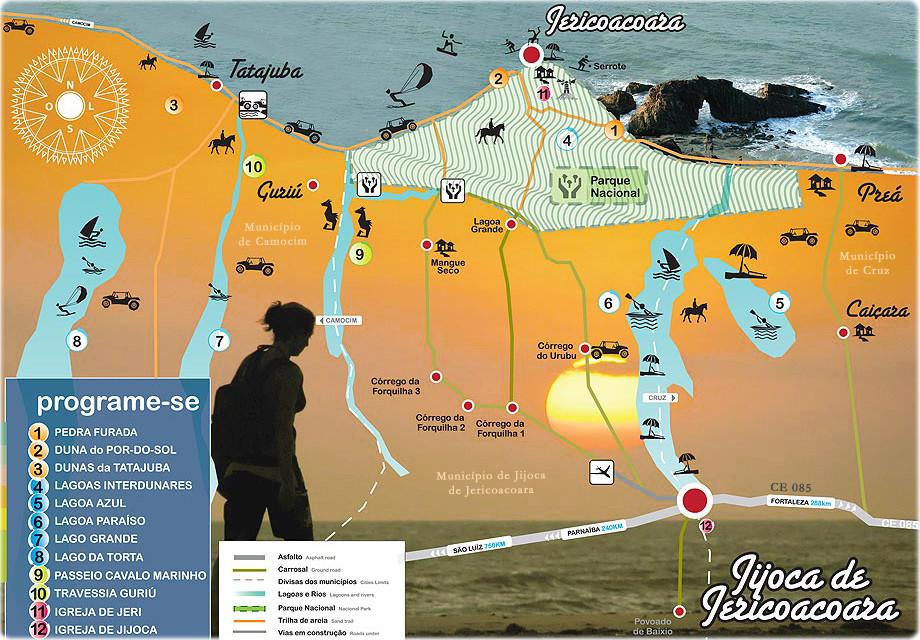 Jericoacoara local map