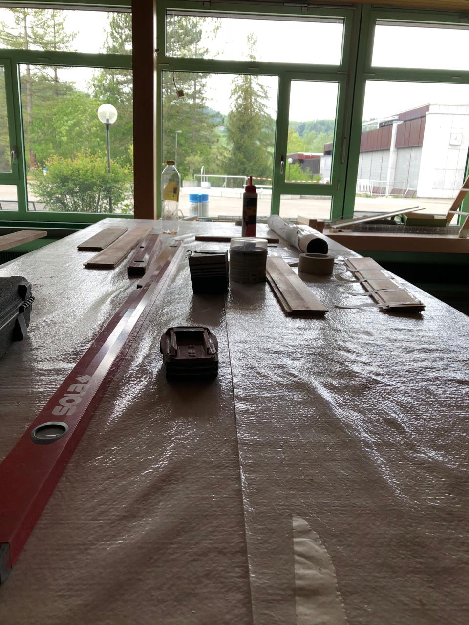 Korpus im Vorbereitungszimmer