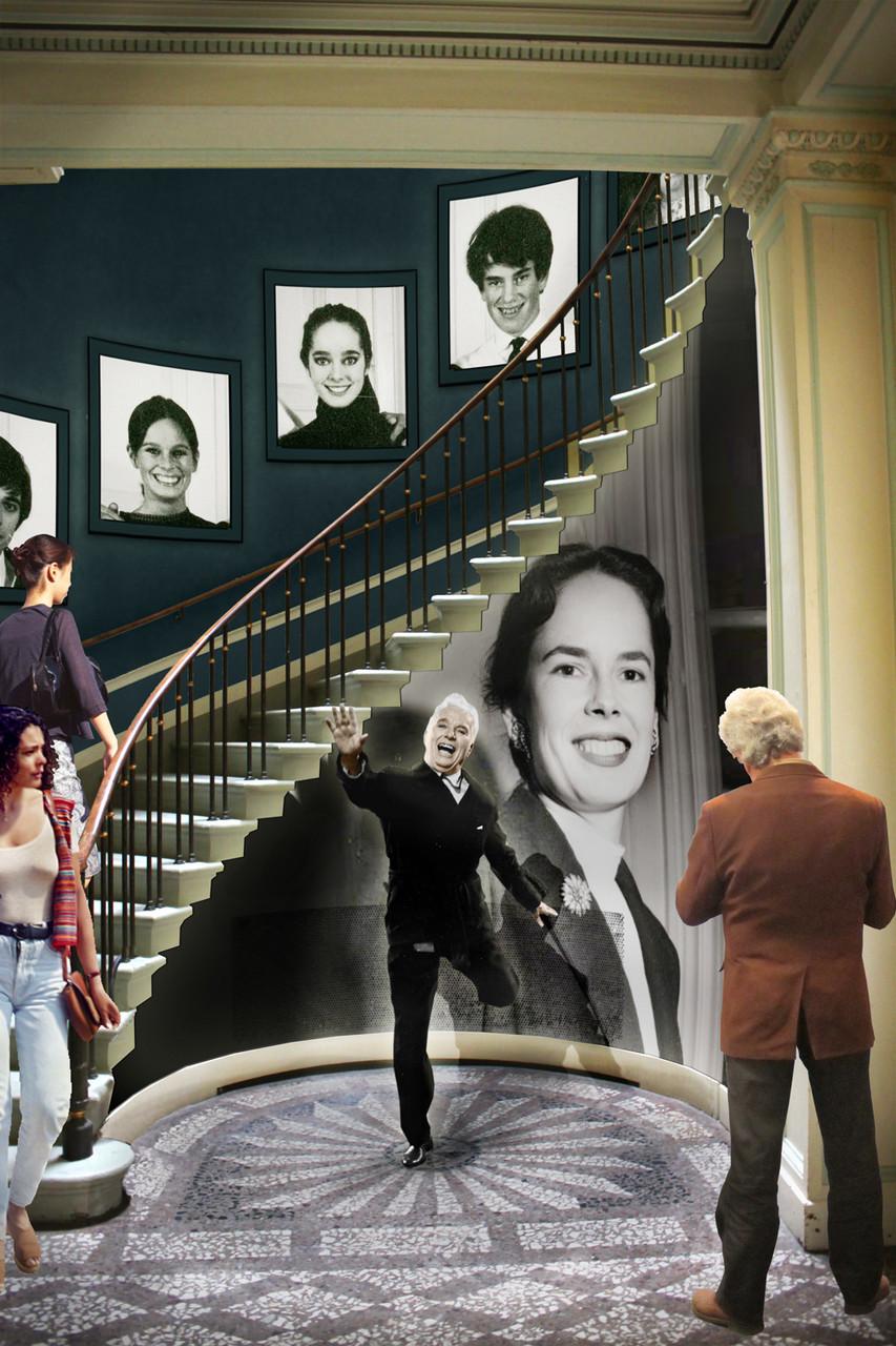 Entrée du Manoir - présentation de la famille Chaplin