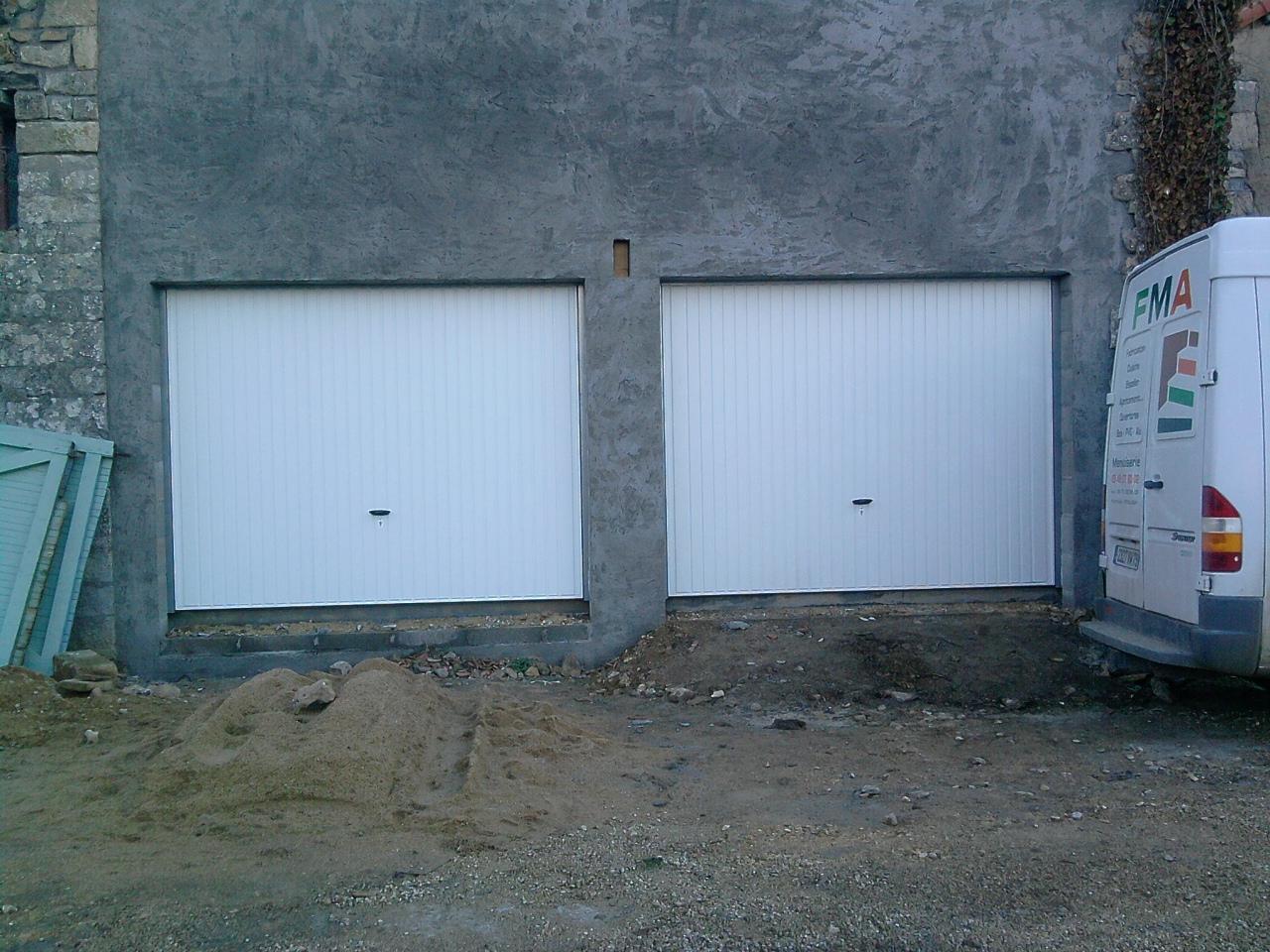 Fourniture et pose de porte de garage fma menuiserie for Fourniture et pose porte de garage
