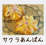 桜餡を使った春らしい花形あんぱんです