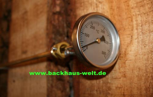 Steinbackofen-Thermometer von 0-1100°C Thermometer für Holzbackofen, Pizzaofen, Backhaus, Steinbackofen