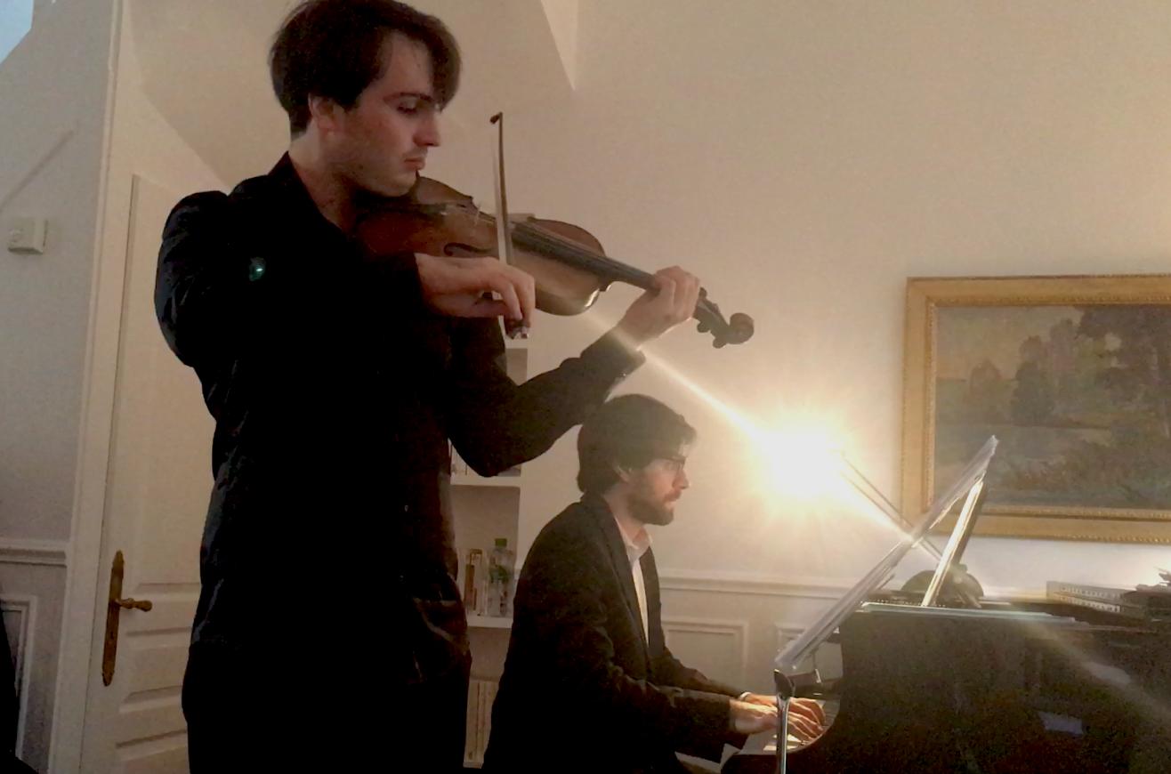 François Pineau Benois (violon) Jonathan Nematnu (piano)