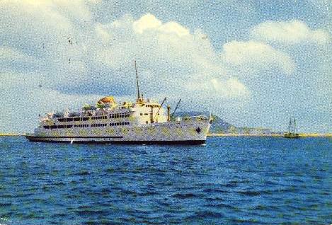 "Transbordador ""Victoria"" en Ceuta. Agosto1959 (Transmediterránea)"