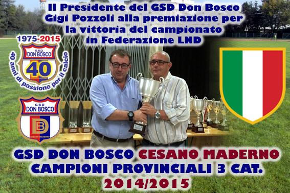 Coppa Lombardia 2014/2015 - GS Don Bosco Cesano Maderno