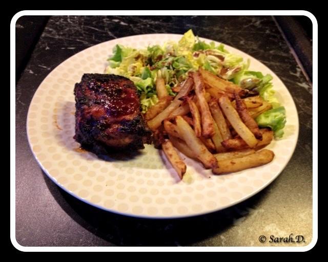 Travers de porc sauce barbecue Jack Daniel's