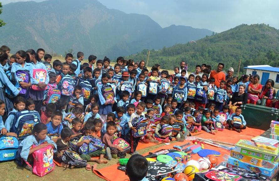 Erdbeben Nepal Unterstützung - Mahadev Kharka Lernzentrum Eröffnung