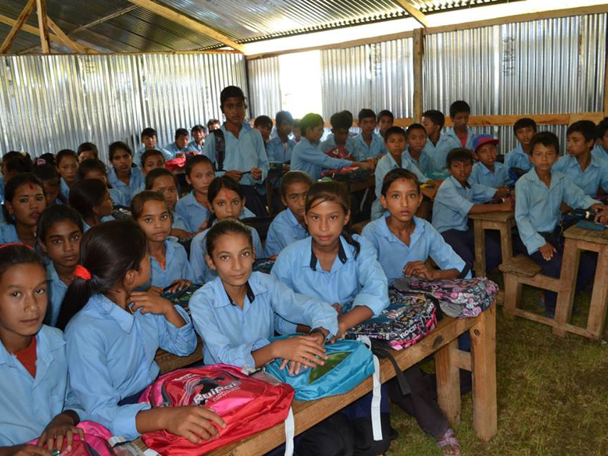 Earthquake Nepal Support - Moriya Learning Centre classroom